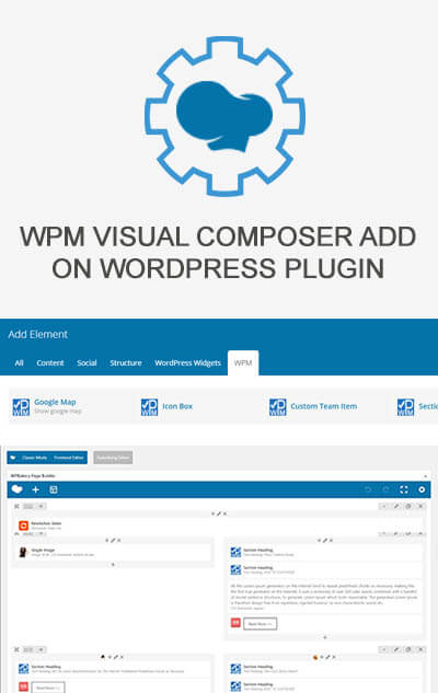 WPM Visual Composer Add On WordPress Plugin
