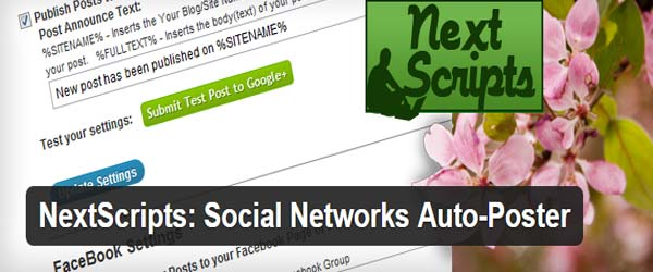 Nextscripts - Social Network Auto-Poster - Share Posts Automatically