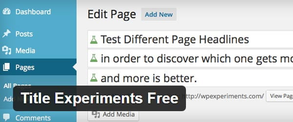 Title Experiments WordPress Plugin
