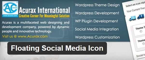 Floating Social Media Icon WordPress Plugin