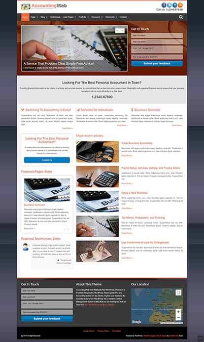 AccountingWeb WORDPRESS THEME Full Demo