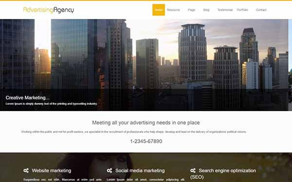 Advertising Agency  WordPress Theme
