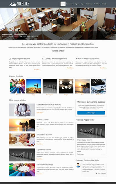 Agencies WordPress Theme