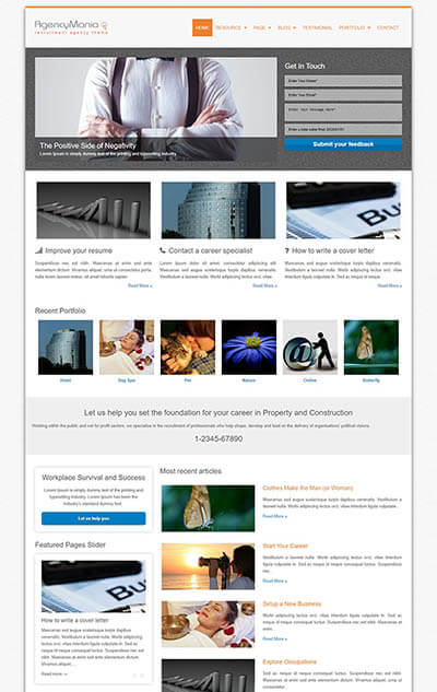 AgencyMania WordPress Theme