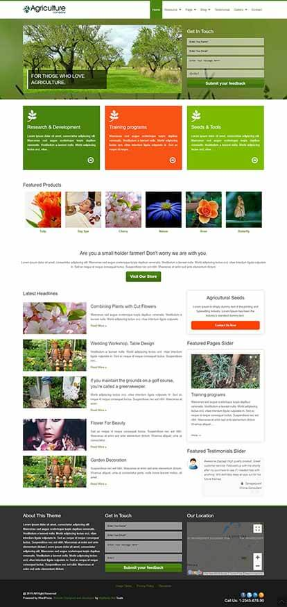 Agriculture WORDPRESS THEME Full Demo