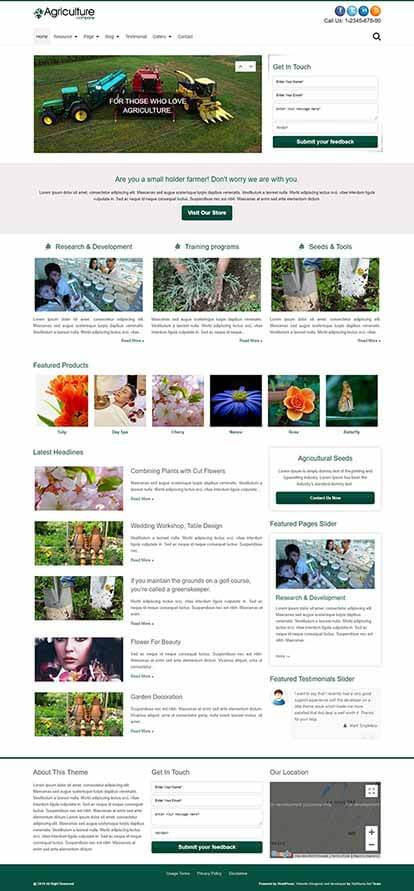Agriculture Company WORDPRESS THEME Full Demo
