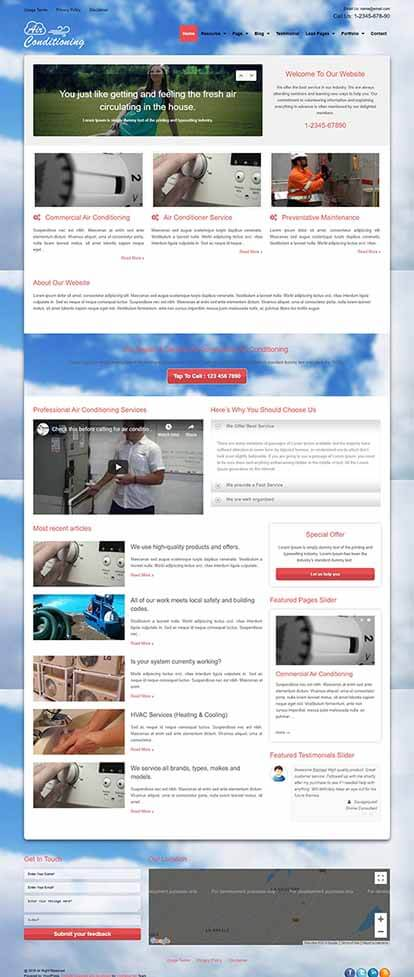 Air Conditioning WORDPRESS THEME Full Demo