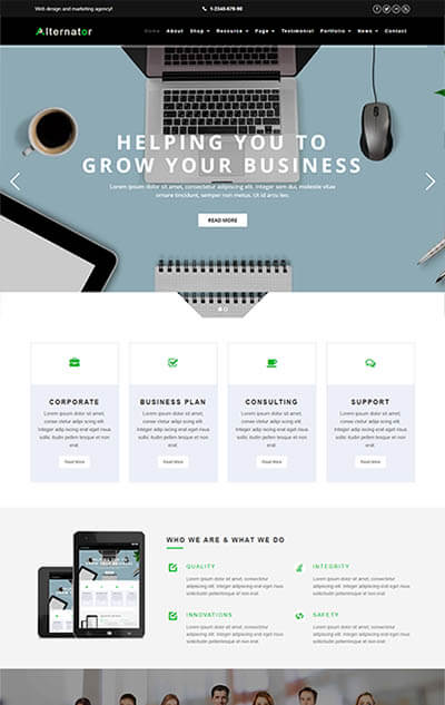 Alternator – Multi-Purpose WordPress Theme