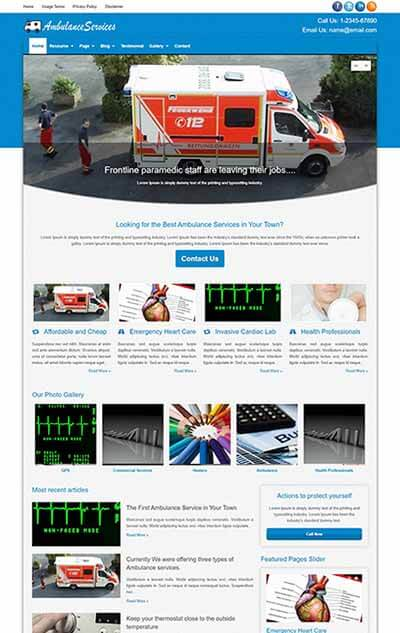 Ambulance Services WordPress Theme