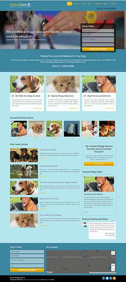 Animal Care WORDPRESS THEME Full Demo