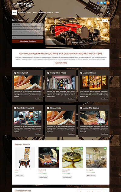 Antique Store WordPress Theme