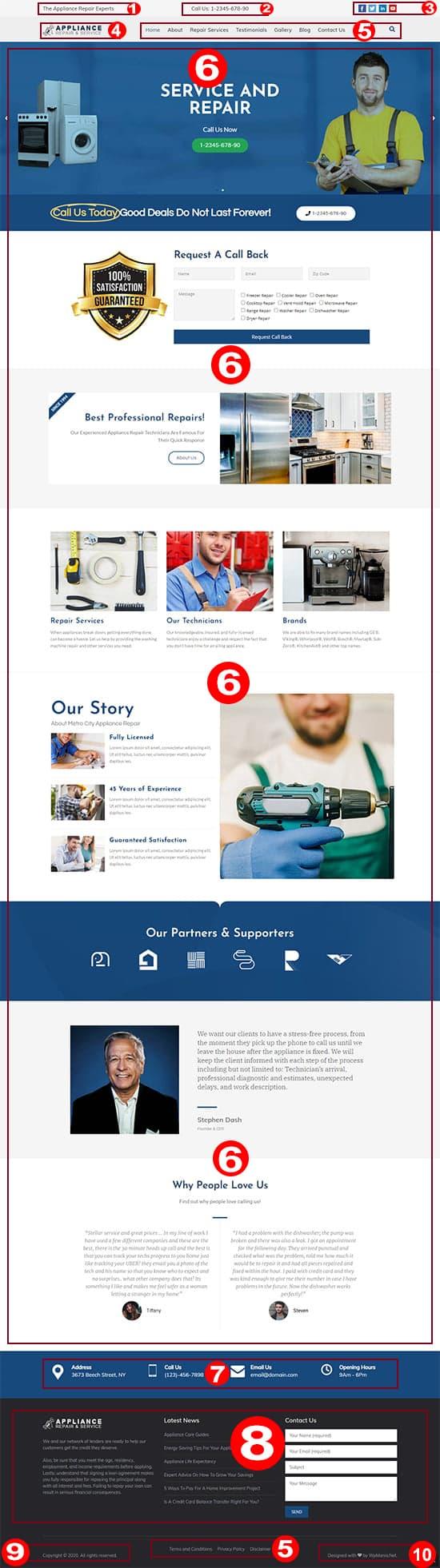Appliance Repair WordPress Theme Documentation