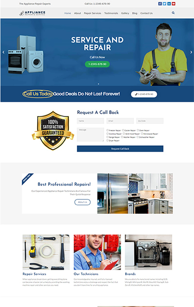Appliance Repair WordPress Theme