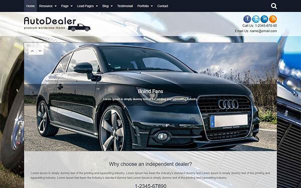 Auto Dealer WordPress Theme