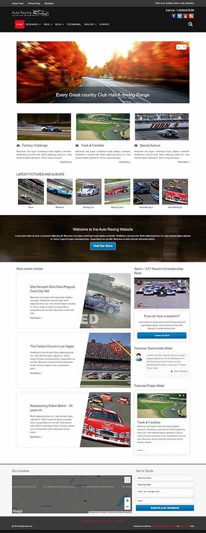 Auto Racing WORDPRESS THEME Full Demo