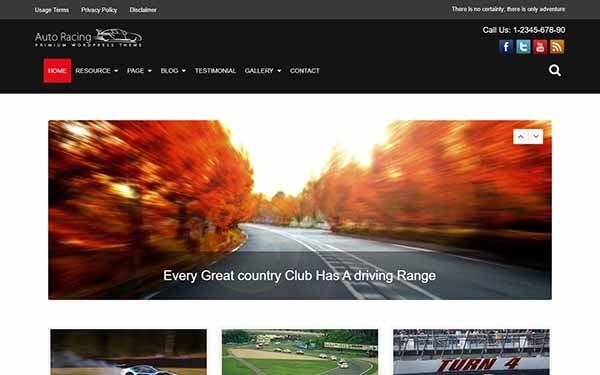 Auto Racing WordPress Theme