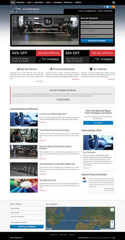 Automobile WORDPRESS THEME Full Demo