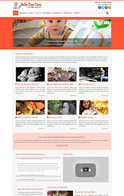 Baby Day Care WordPress Theme