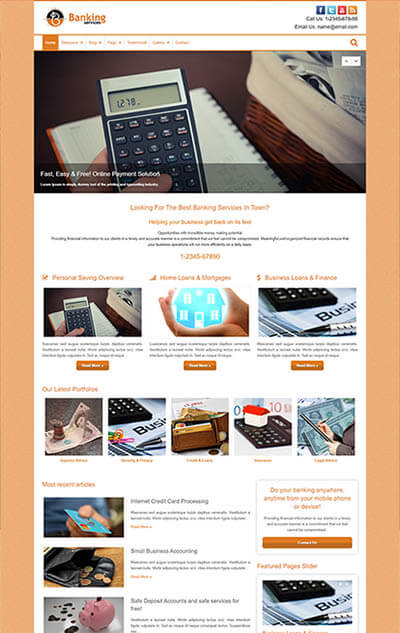 Banking Services WordPress Theme