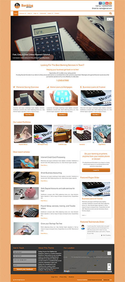Banking Services WORDPRESS THEME Full Demo