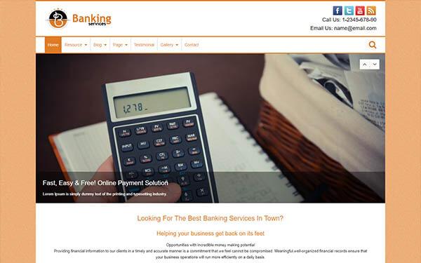 Banking Services WordPress Theme