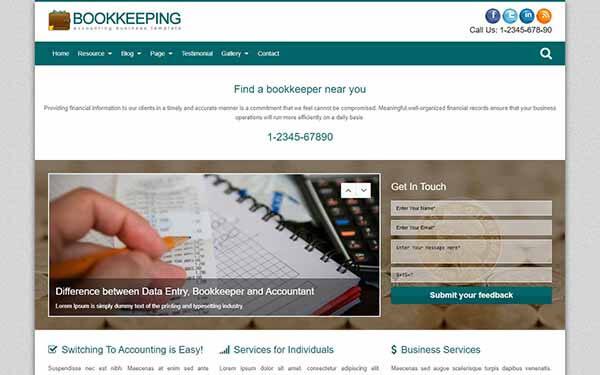 Bookkeeping WordPress Theme