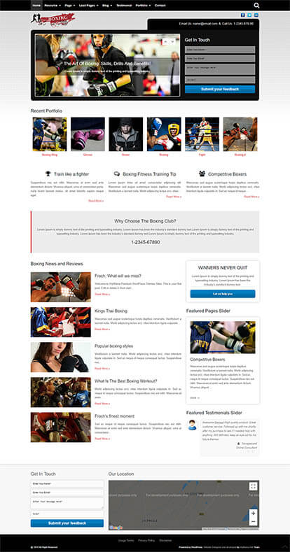 Boxing WORDPRESS THEME Full Demo