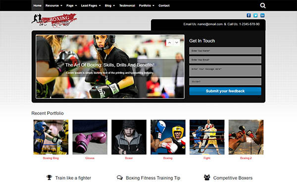 Boxing WordPress Theme