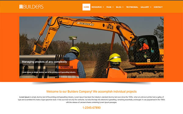 Builders WordPress Theme