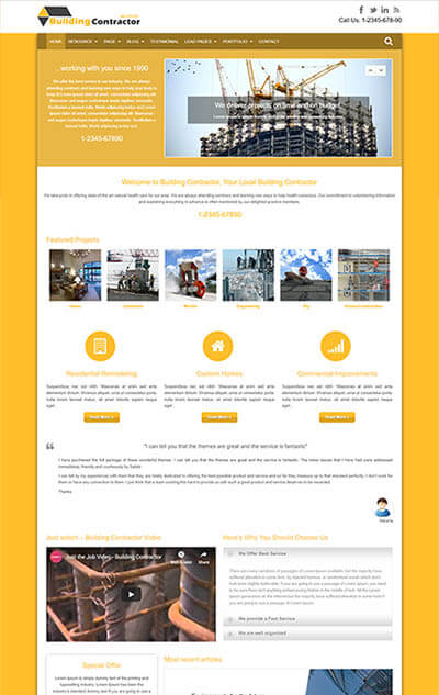 Building Contractor WordPress Theme