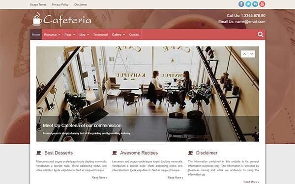 Cafeteria WordPress Theme