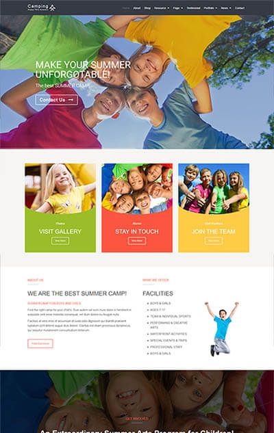 Camping – Responsive WordPress Theme