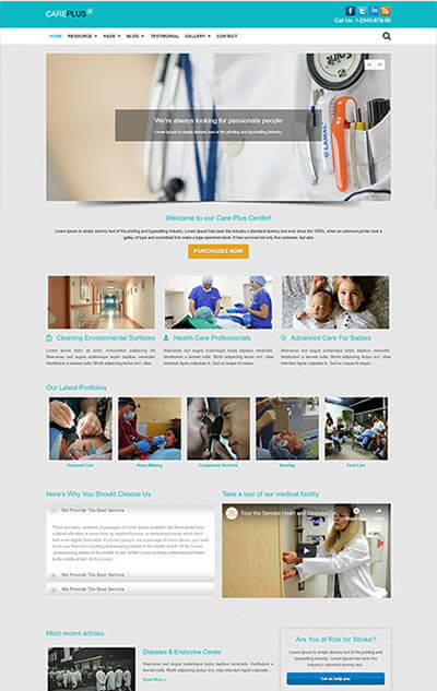 Care Plus Medical WordPress Theme