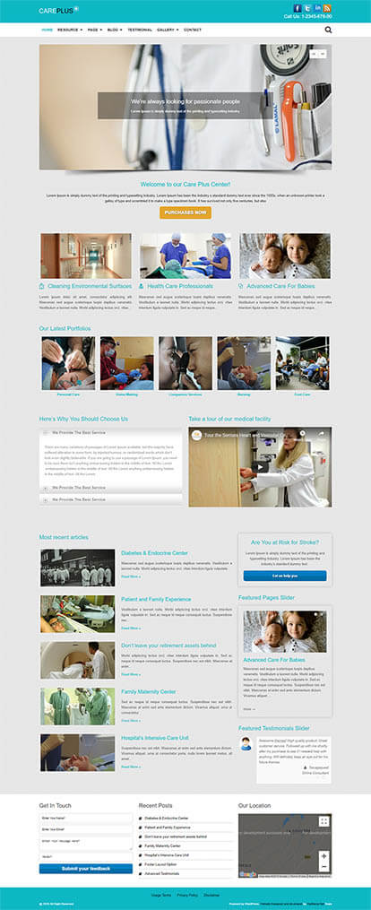 Care Plus WORDPRESS THEME Full Demo