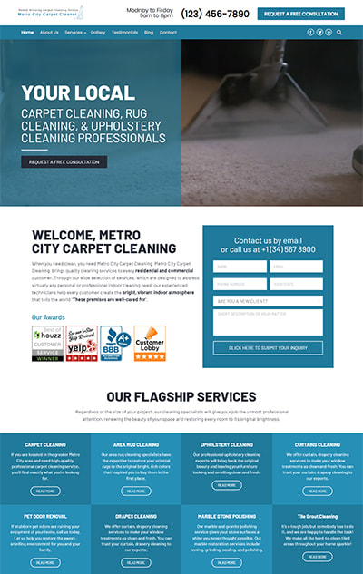 Carpet Cleaner WordPress Theme The Best  Cleaning Services  Website Template