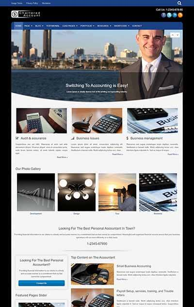 Chartered Account – Accounting WordPress Theme