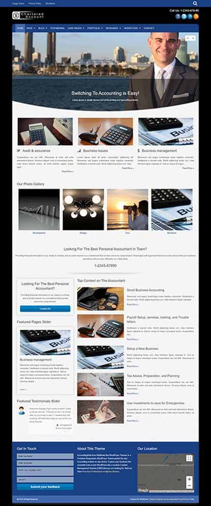 Chartered Account WORDPRESS THEME Full Demo