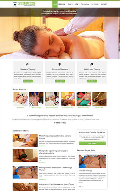 Chiropractors WordPress Theme
