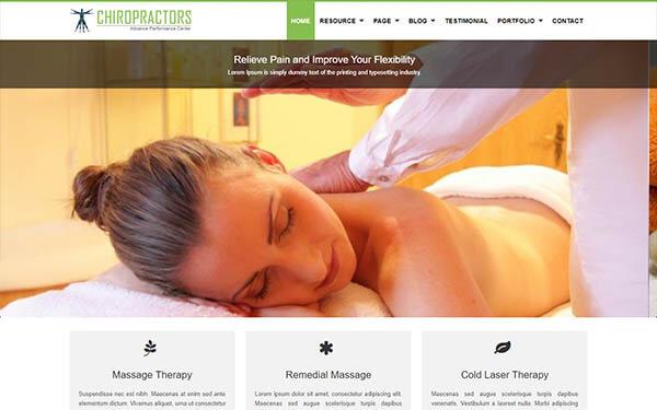 Chiropractors WordPress Theme