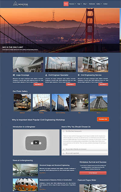 Civil Engineering WordPress Theme