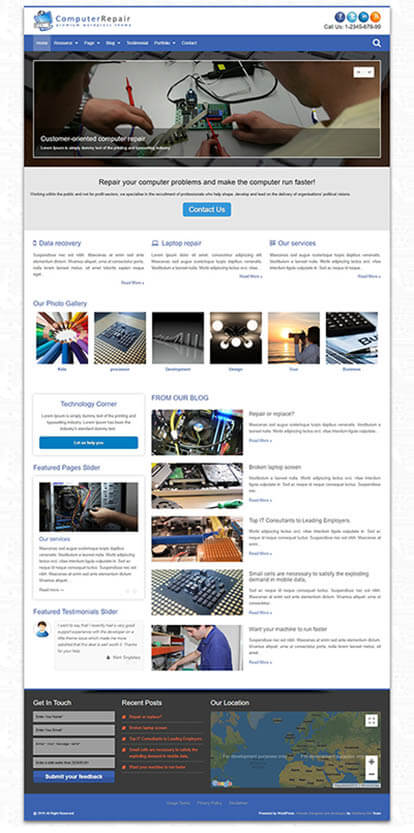 Computer Repair WORDPRESS THEME Full Demo