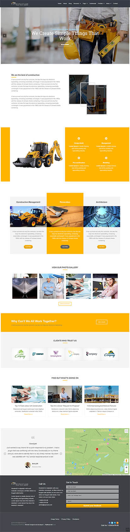Construction WORDPRESS THEME Full Demo
