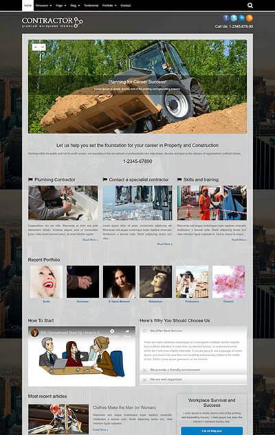 Contractor WordPress Theme