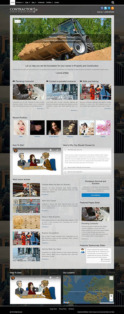Contractor WORDPRESS THEME Full Demo
