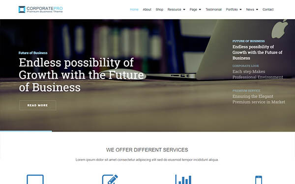 CorporatePro Business WordPress Theme