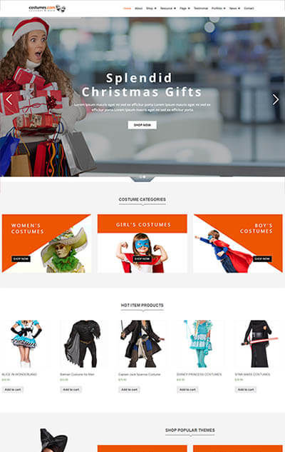 Costumes – Multipurpose WooCommerce WordPress Theme