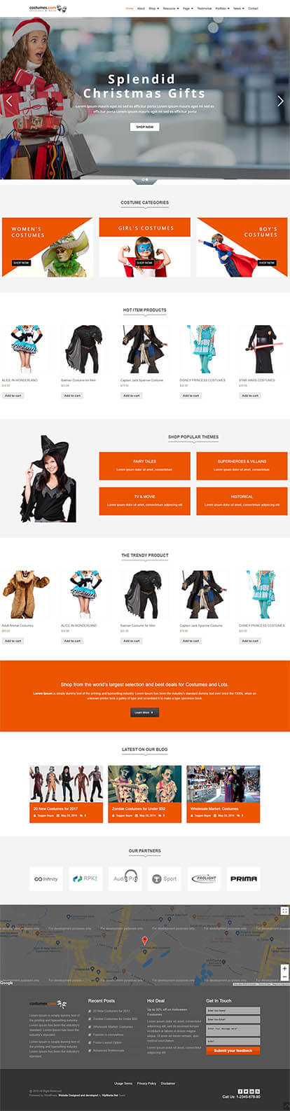 Costumes WORDPRESS THEME Full Demo