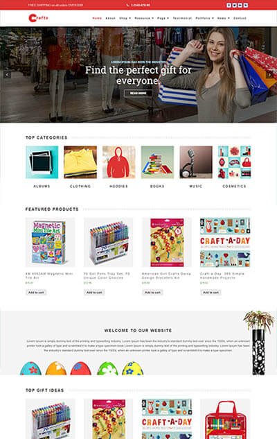 Crafts – Multi-Purpose WordPress Theme