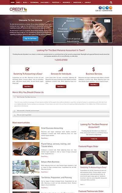 Credit – Accounting WordPress Theme
