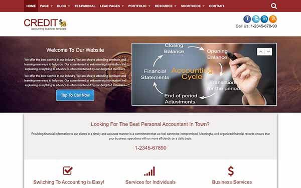 Credit – Accounting WordPress Theme